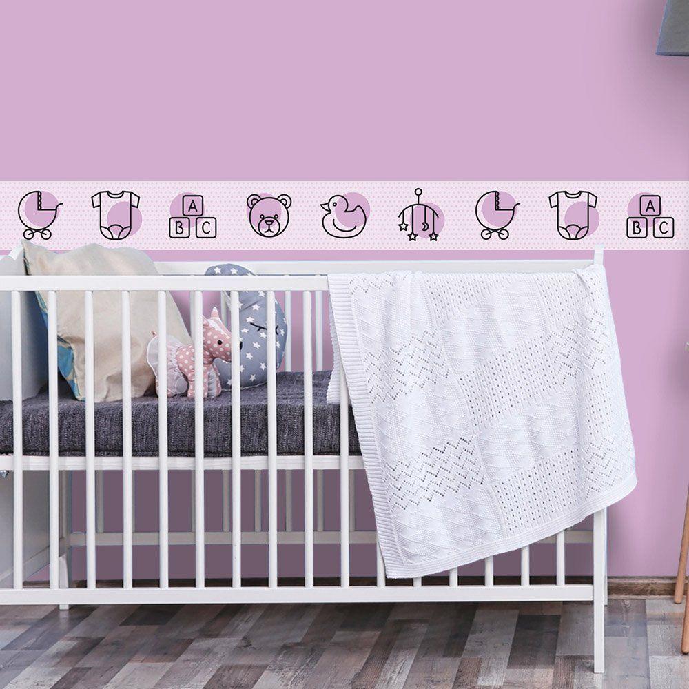 Faixa de Parede Bebê Bolinhas