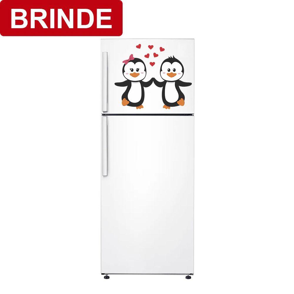 BRINDE - Adesivo de Geladeira Pinguim Couple 45x32