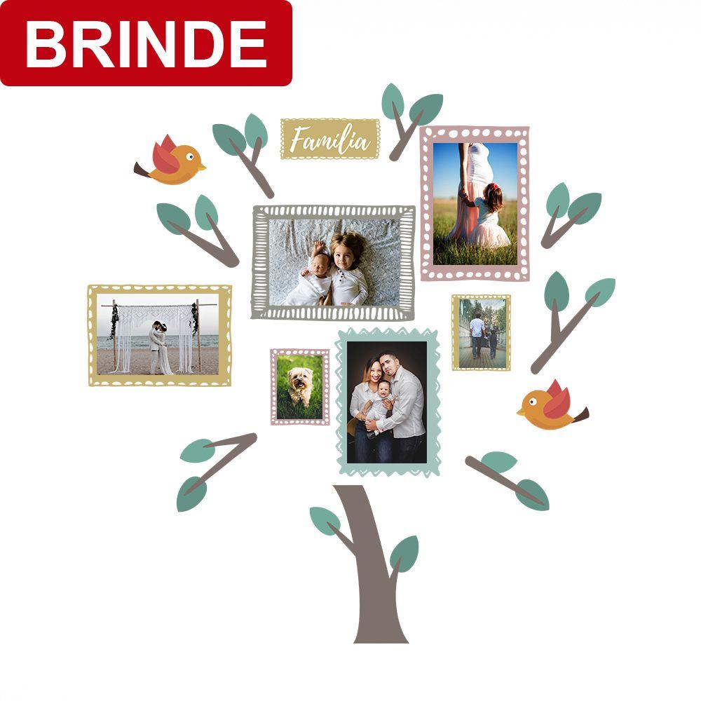 BRINDE - Adesivo de Parede Porta Retrato Color 61cm x 65cm
