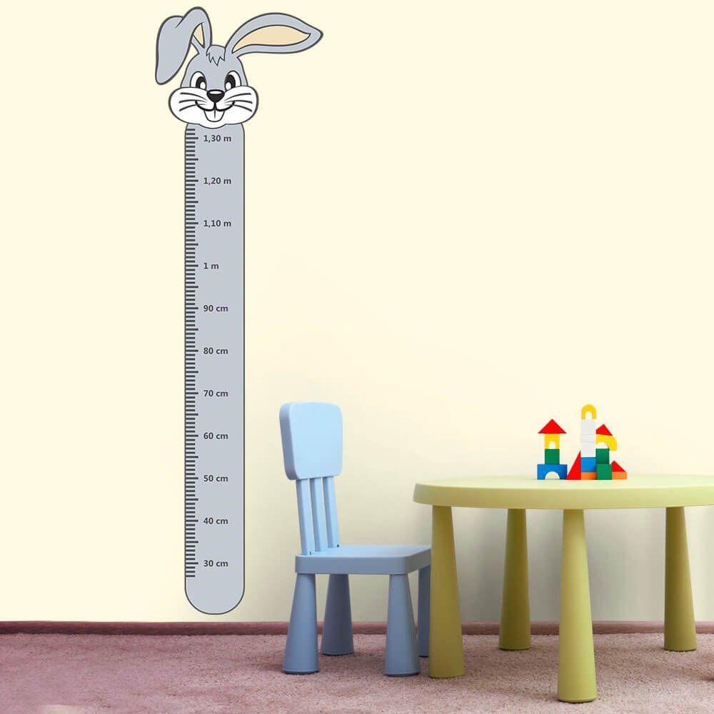Adesivo Régua de Crescimento Coelho