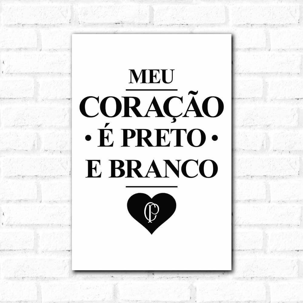 3360de4bd1 Corinthians - Placa Decorativa Coração Vintage - Papel de Parede ...