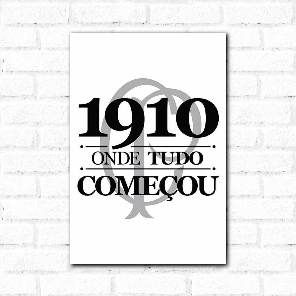 Corinthians - Placa Decorativa Onde Tudo Começou