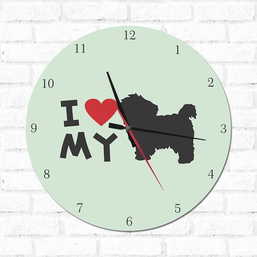 Relógio Decorativo I love My Maltes