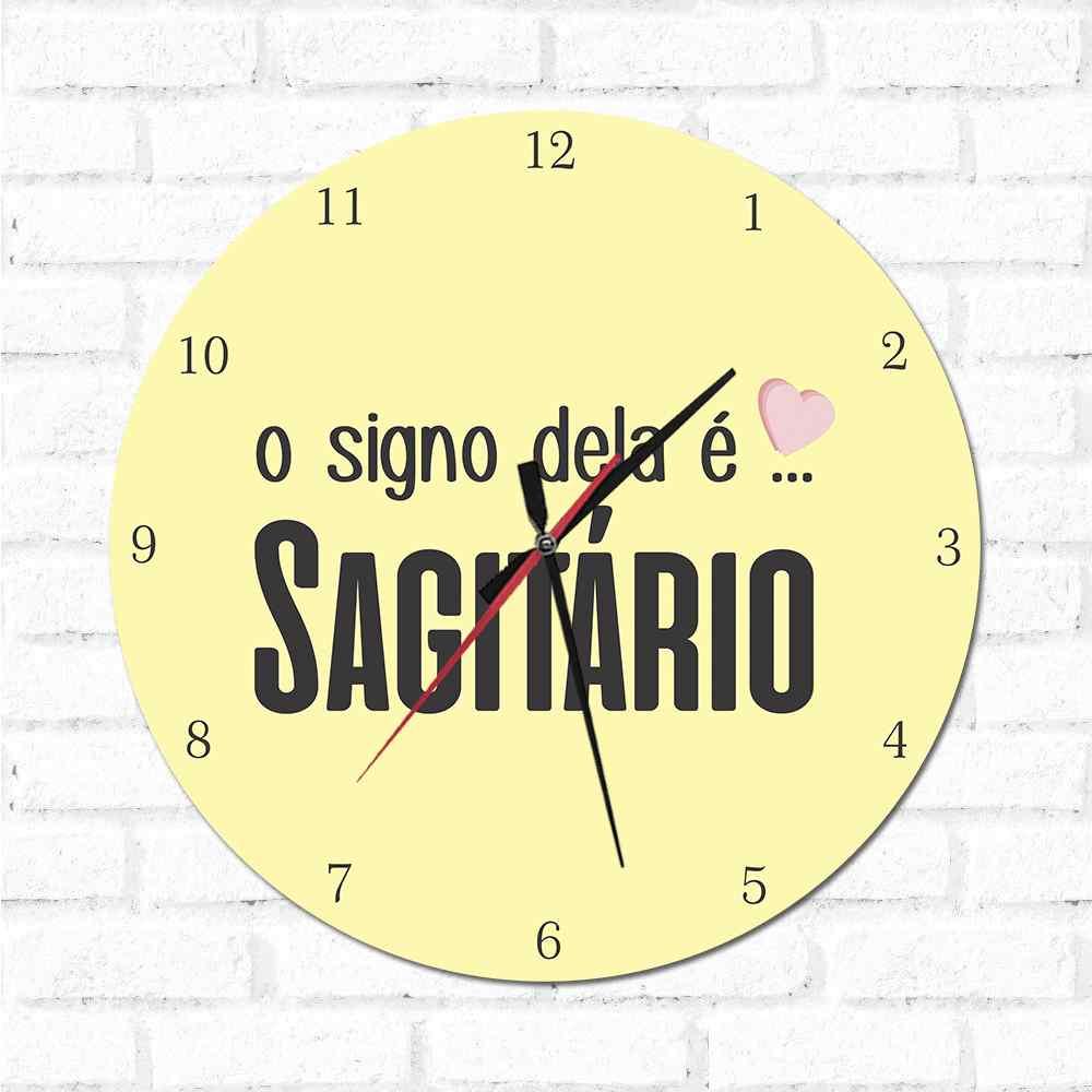 Relógio O Signo dela é Sagitário