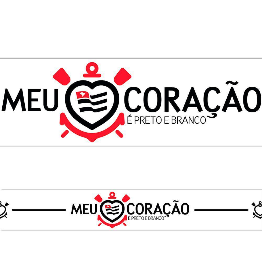 Corinthians - Faixa de Parede Coração