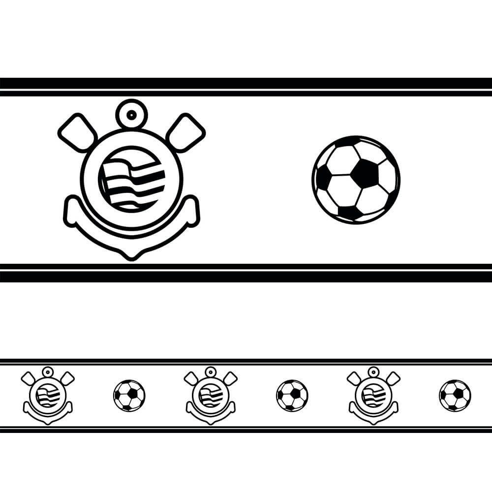 Corinthians - Faixa de Parede Fut Black