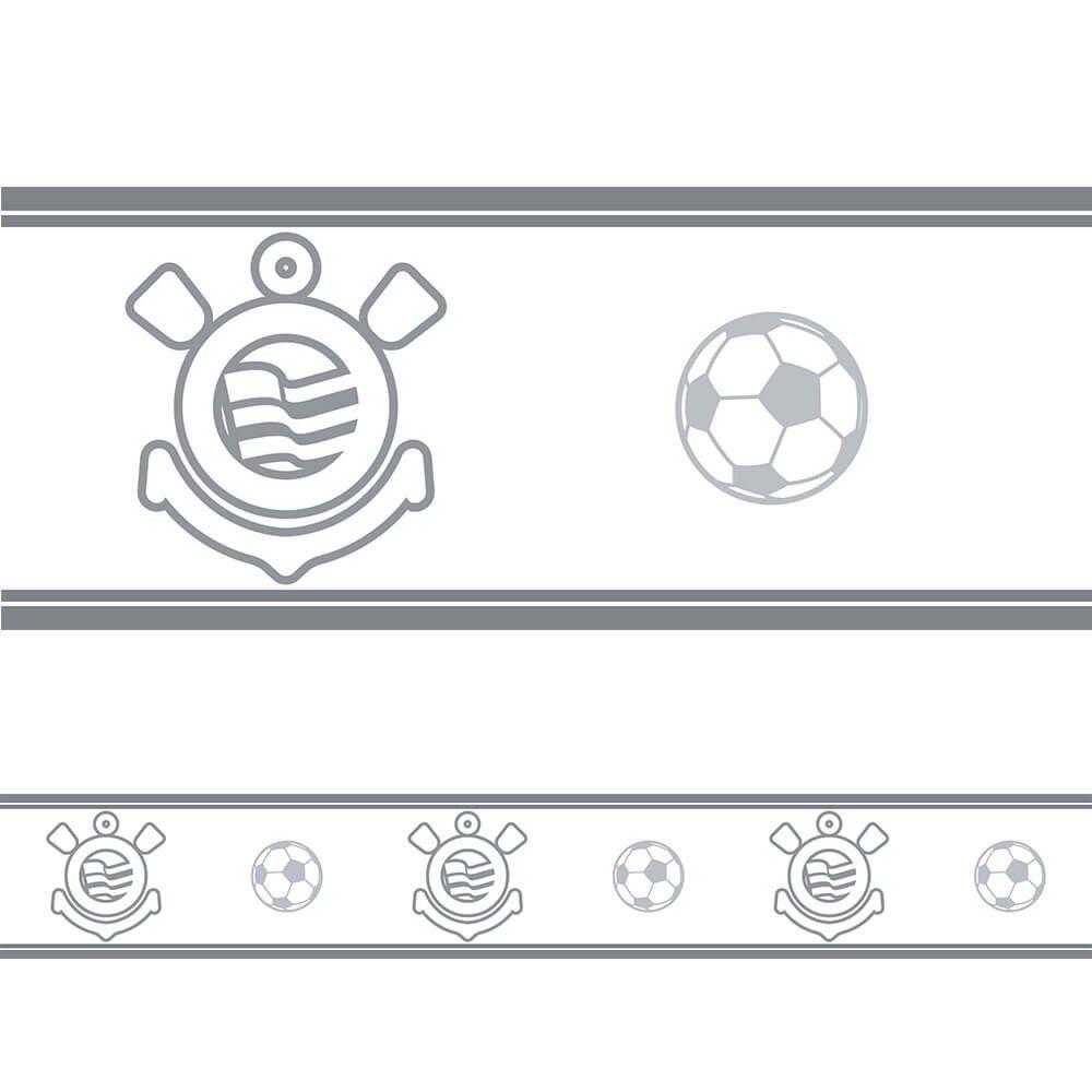 Corinthians - Faixa de Parede Fut Gray