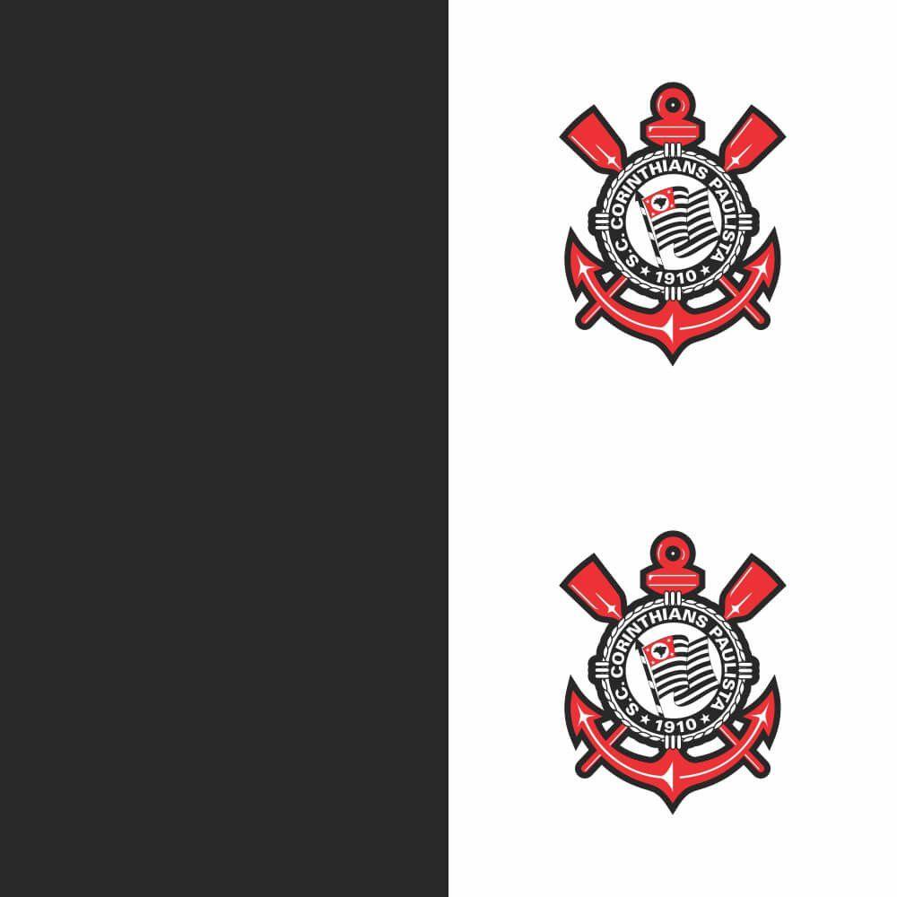Corinthians - Papel de Parede Faixas Branca