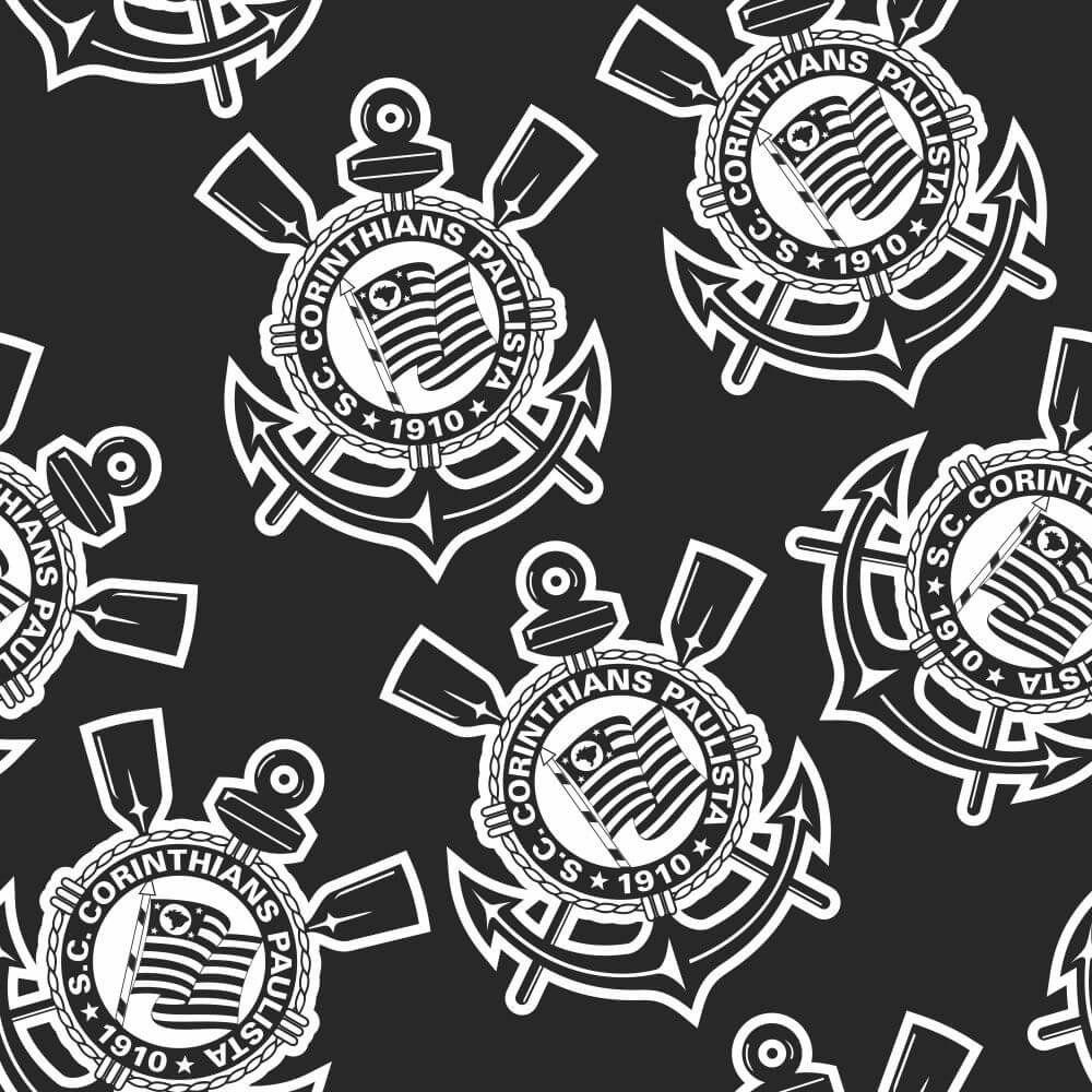 Corinthians - Papel de Parede Logo Black