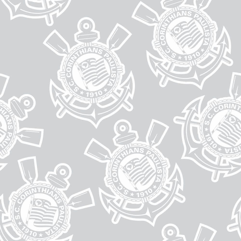 Corinthians - Papel de Parede Logo Gray