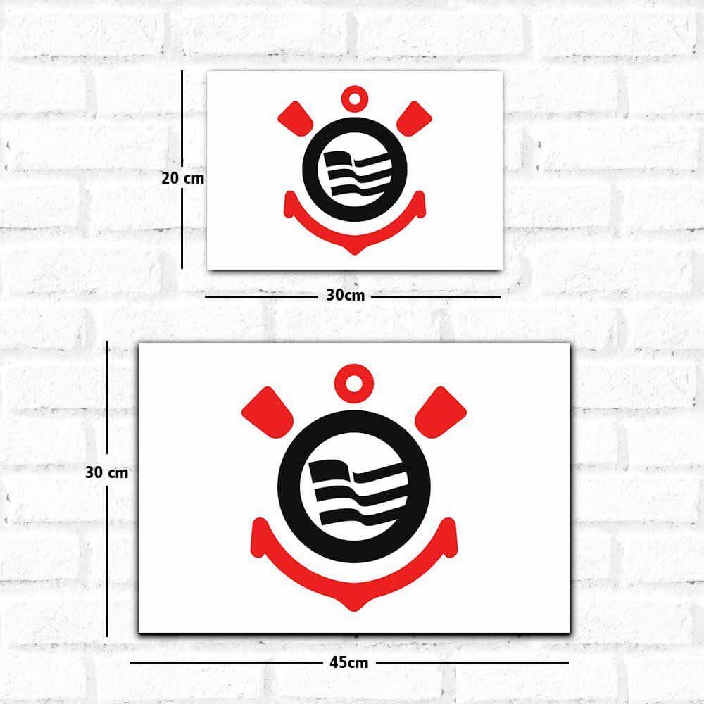 Corinthians - Placa Decorativa Logo Clean