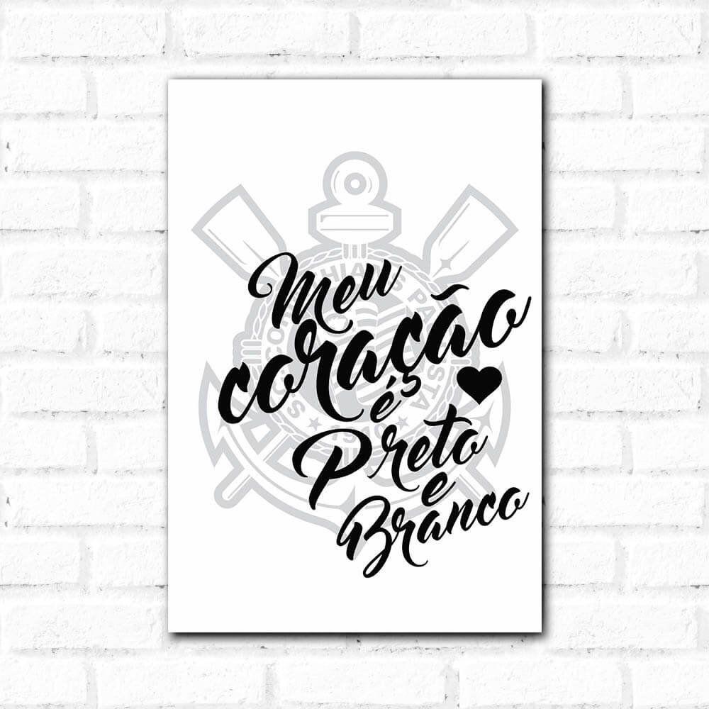 36aa5a1400 Corinthians - Placa Decorativa Meu Coração - Qcola