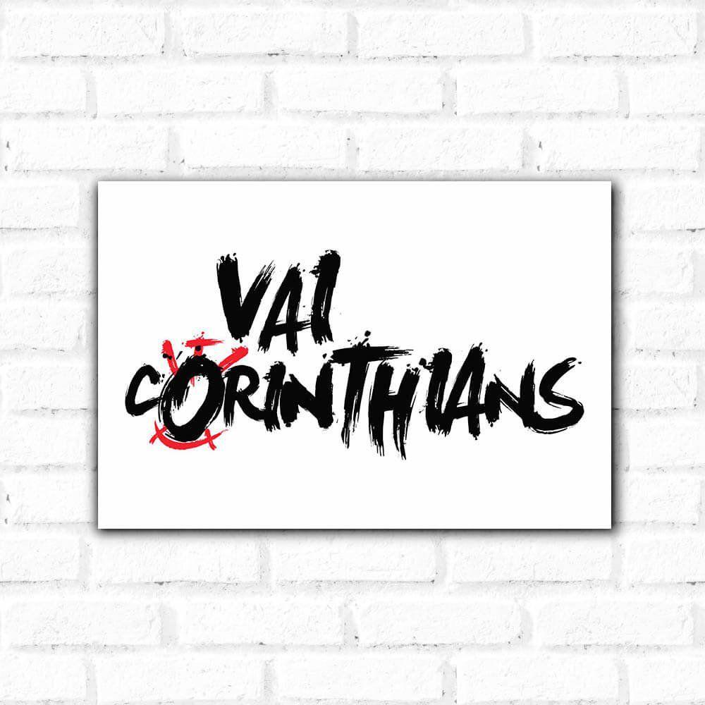Corinthians - Placa Decorativa Vai