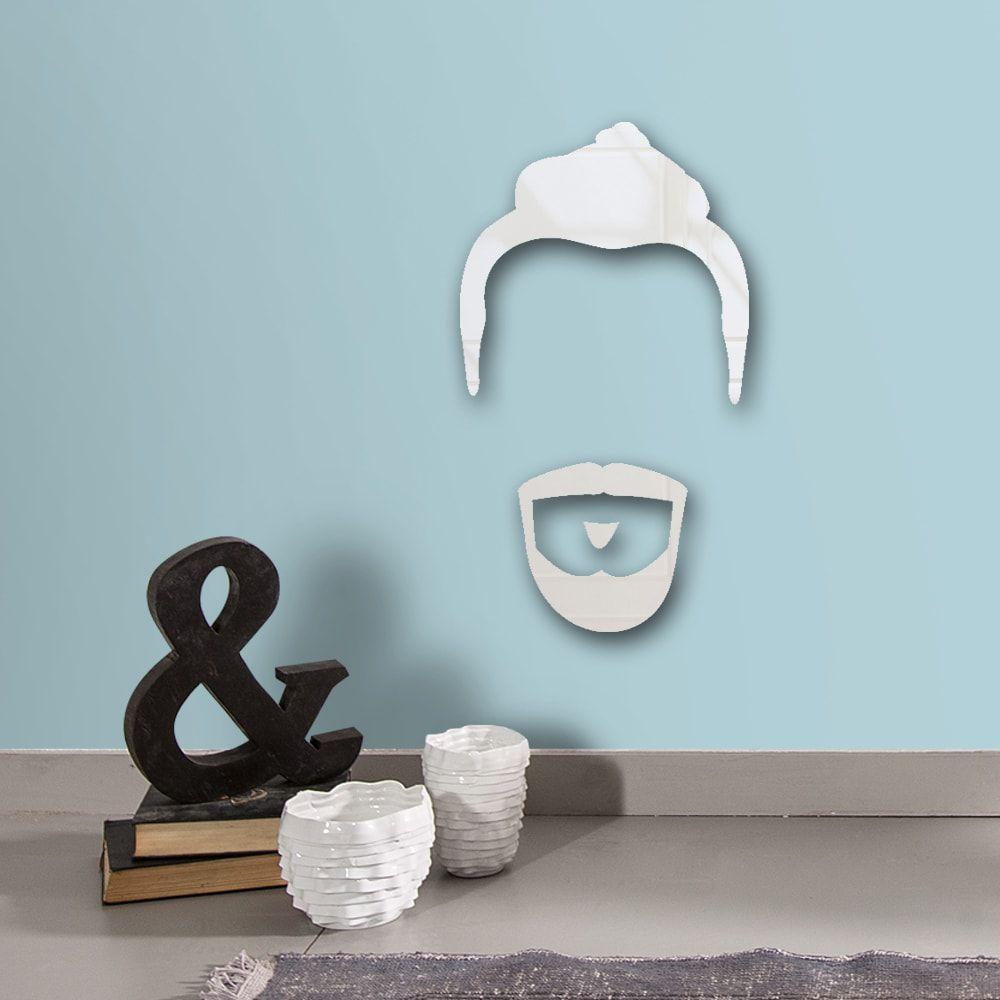 Espelho Decorativo Barba e Cabelo