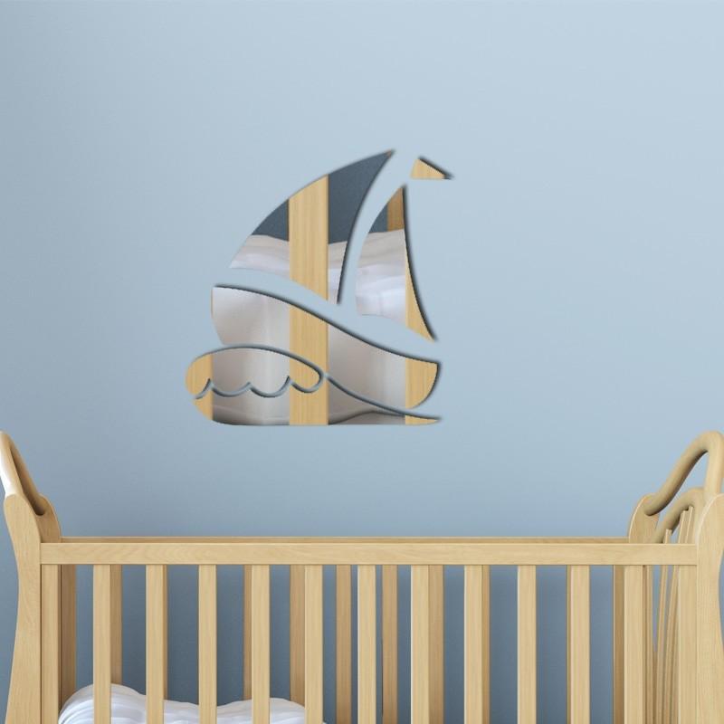 Espelho Decorativo Barco a Vela