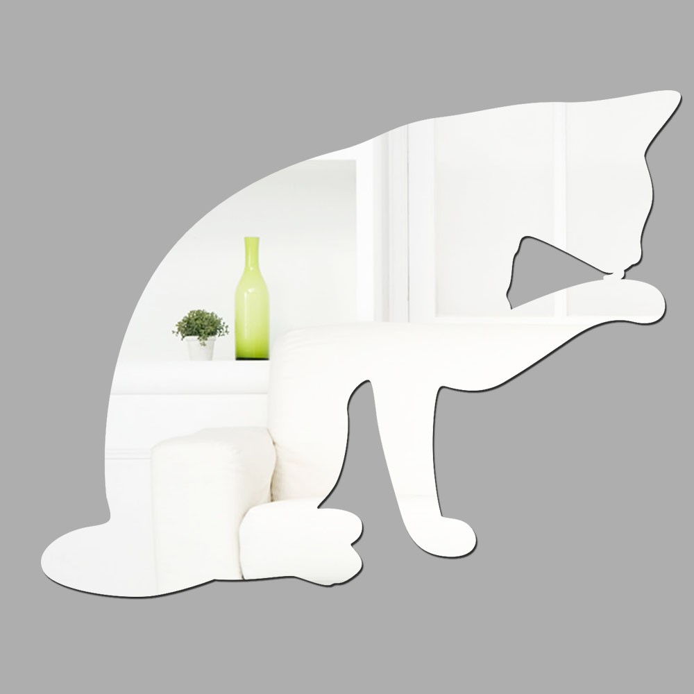 Espelho Decorativo Cat Licking