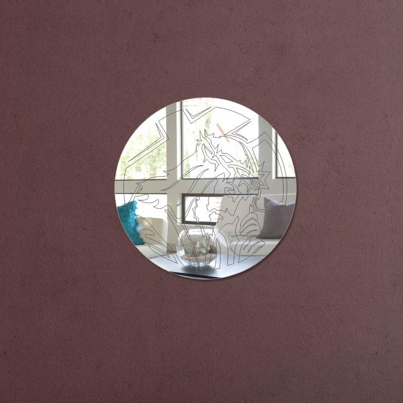 Espelho Decorativo Círculo Jesus