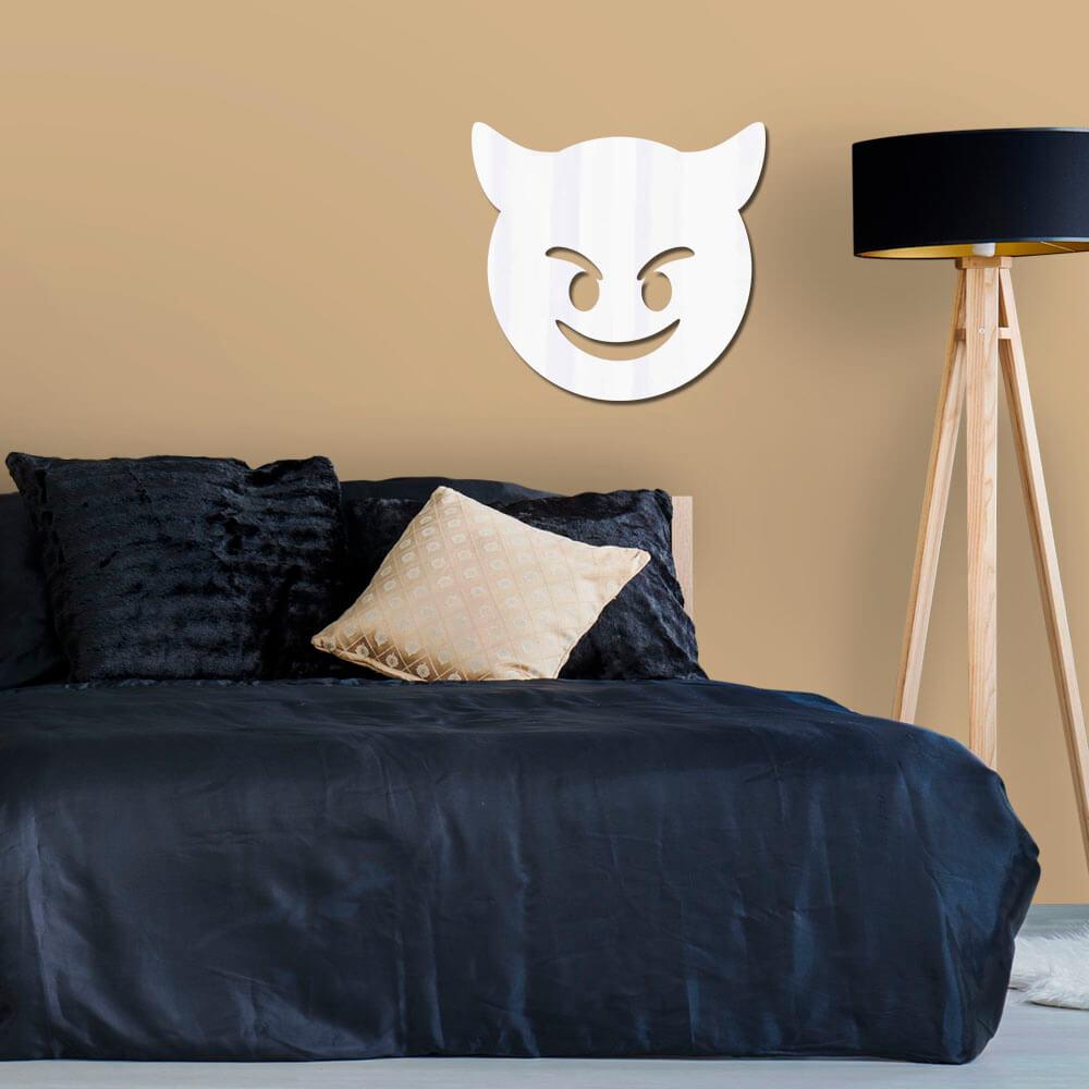 Espelho Decorativo Emoji Malvado