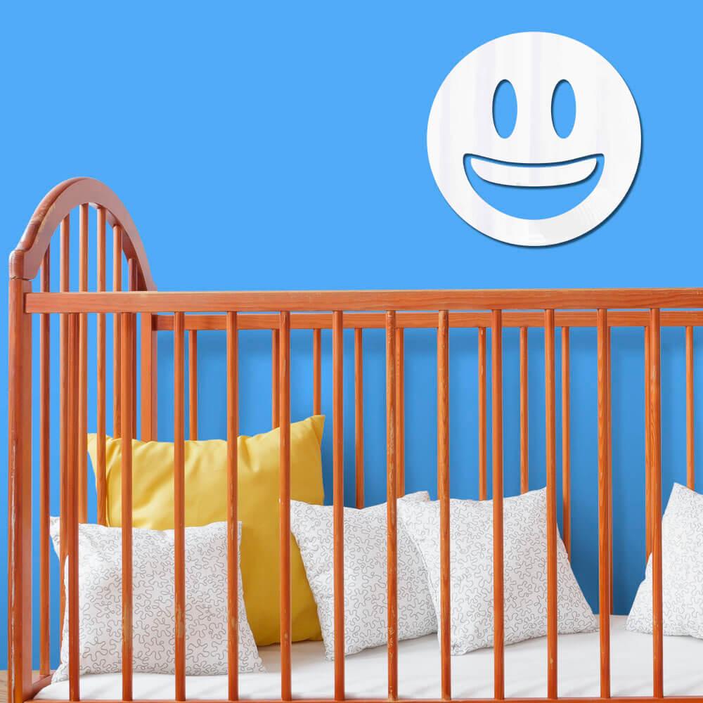 Espelho Decorativo Emoji Super Feliz