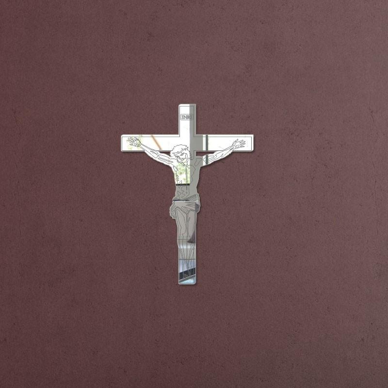 Espelho Decorativo Jesus na Cruz