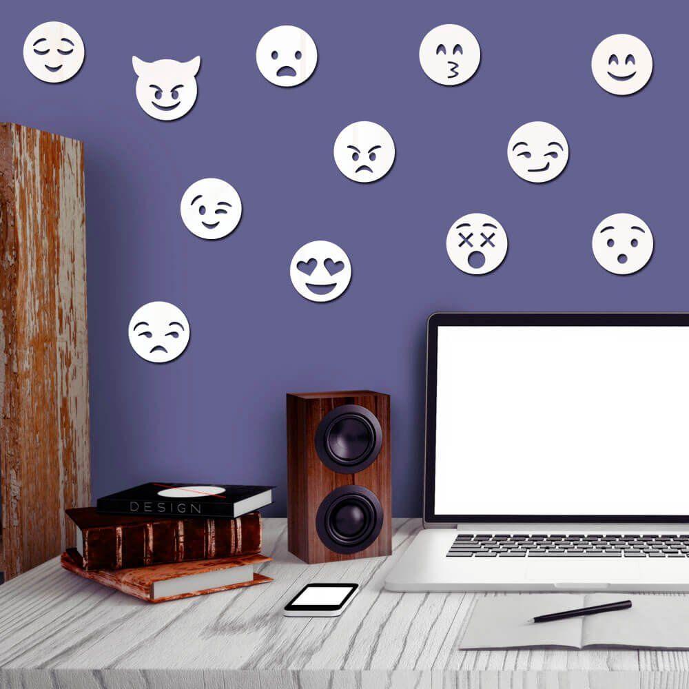 Espelho Decorativo Kit Emojis