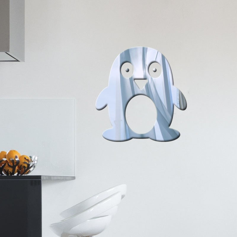 Espelho Decorativo Pinguim