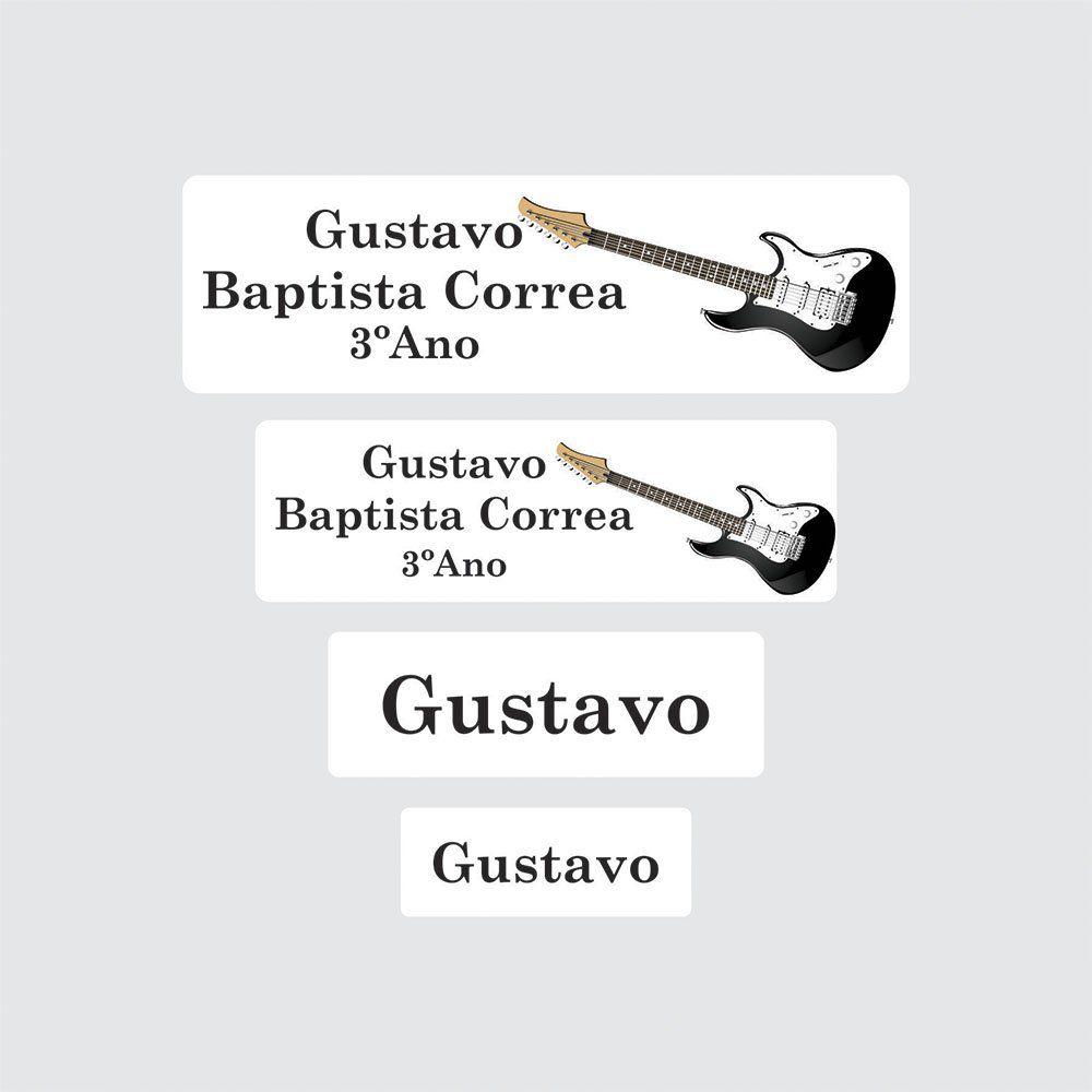 Etiqueta Escolar Guitarra