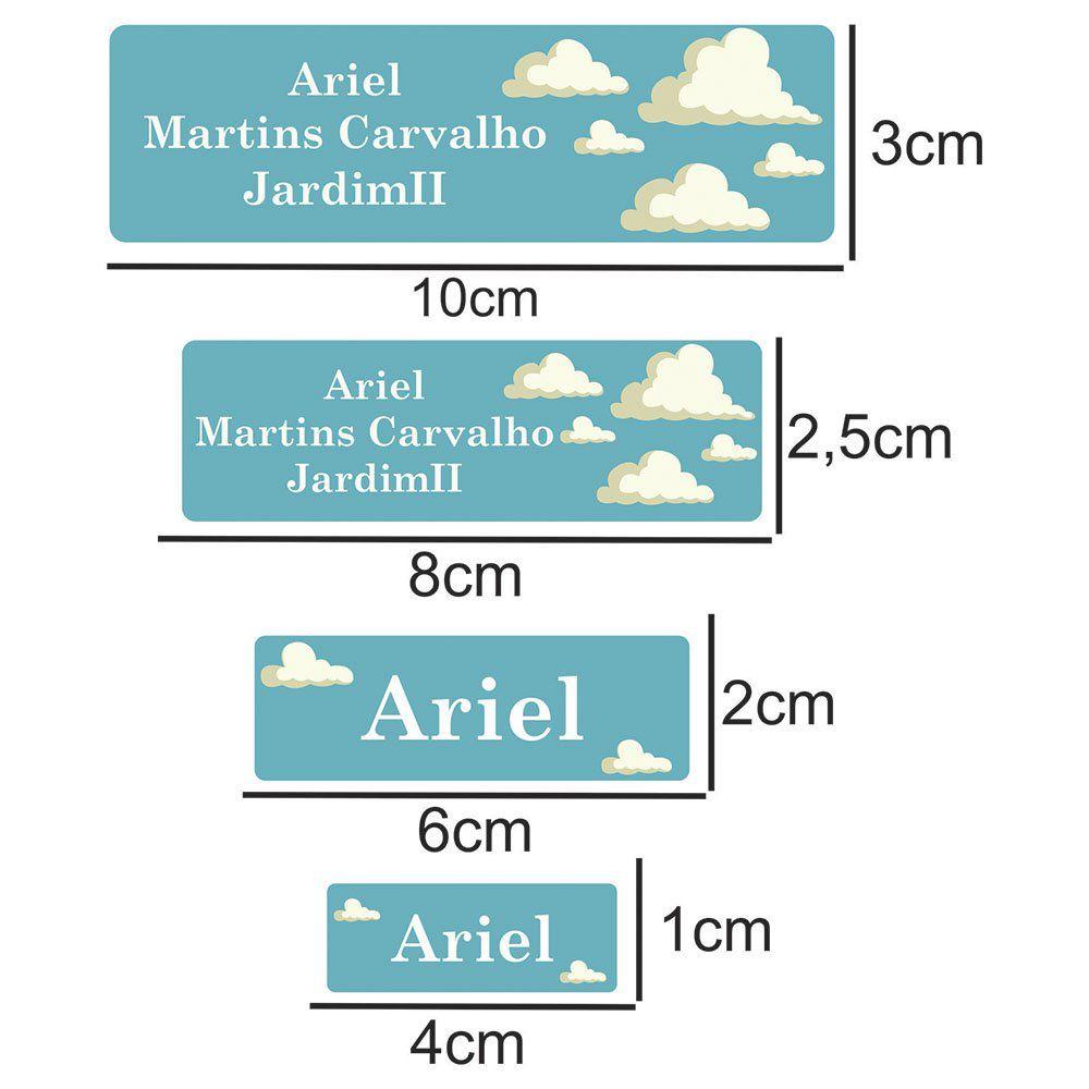 Etiqueta Escolar Nuvens