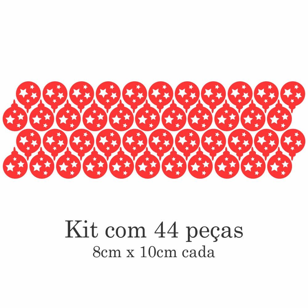 Kit de Adesivos de Parede Bolinhas de Natal