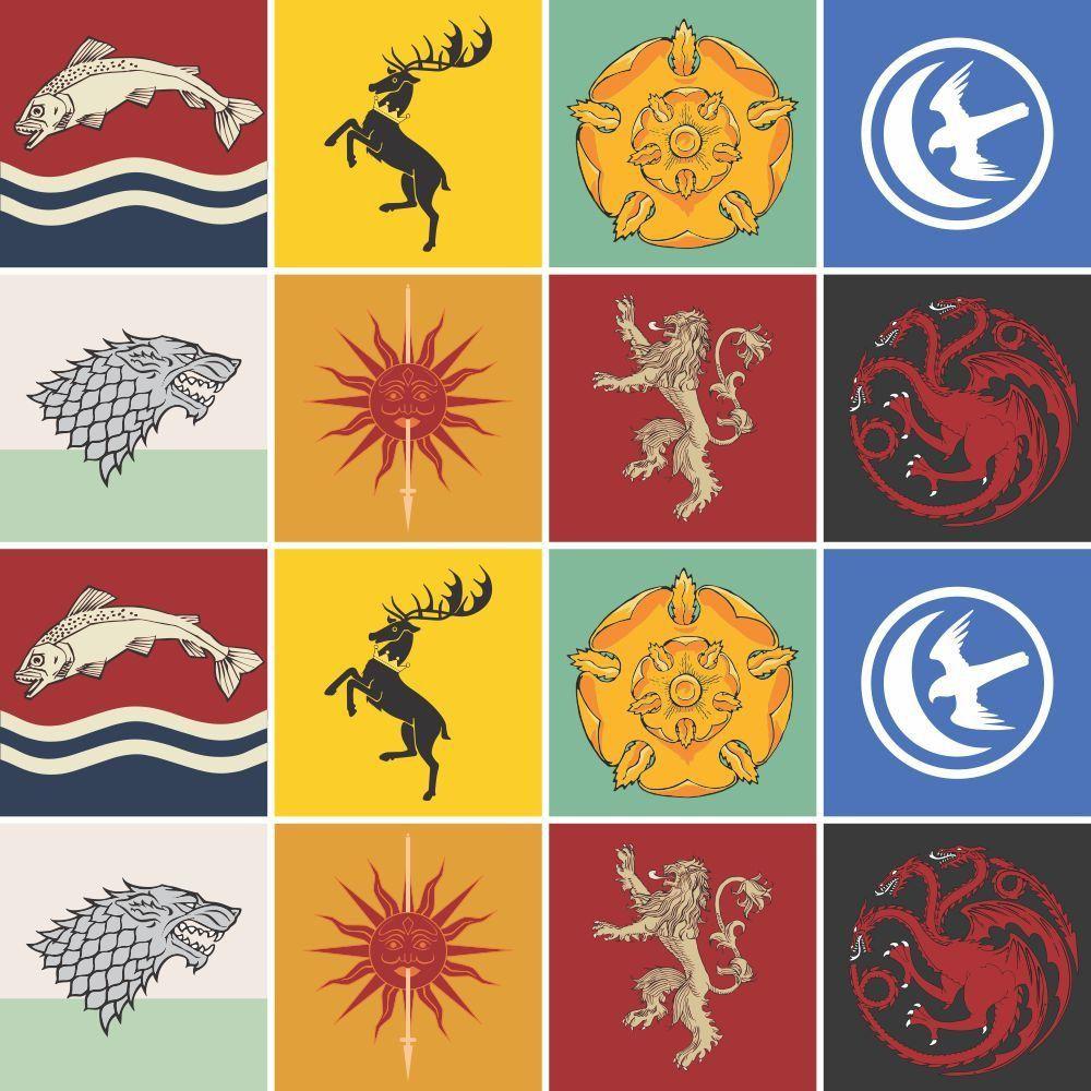 OUTLET - 1 Kit Adesivo para Azulejo Casas Game Of Thrones 20x20 cm