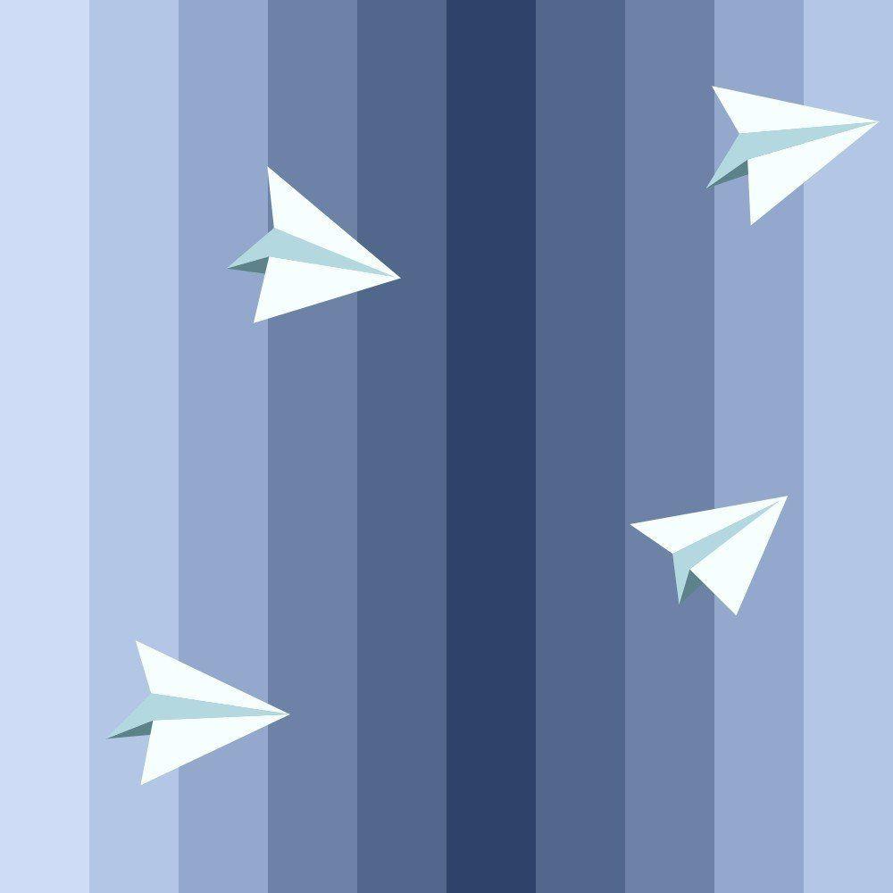 OUTLET - 1 Rolo de Papel de Parede Aviõezinhos 0,60 x 3,00 metros