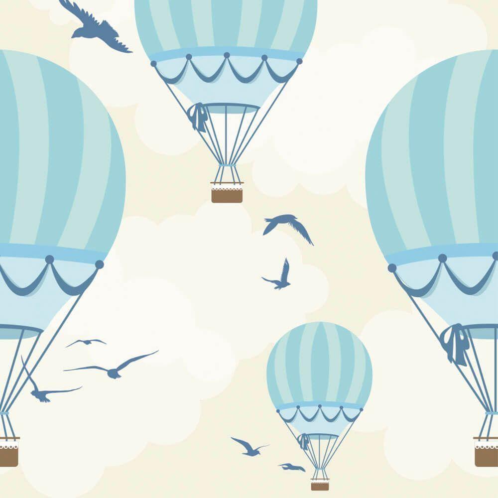 OUTLET - 1 Rolo de Papel de Parede Balões Ilustra Boy 0,60 x 2,35 metros