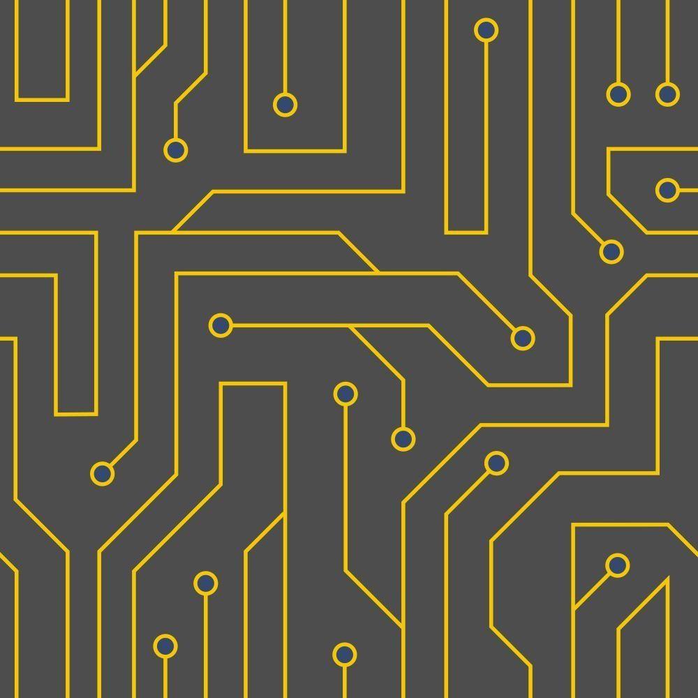 OUTLET - 1 Rolo de Papel de Parede Black Circuit 0,58 x 2,50 metros
