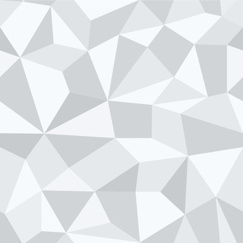 OUTLET - 1 Rolo de Papel de Parede Gray Polygonal 0,58x 3,00 metros