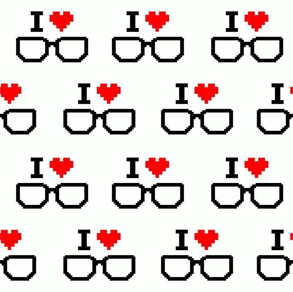 OUTLET - 1 Rolo de Papel de Parede I Love Geek 0,60 x 2,50 metros