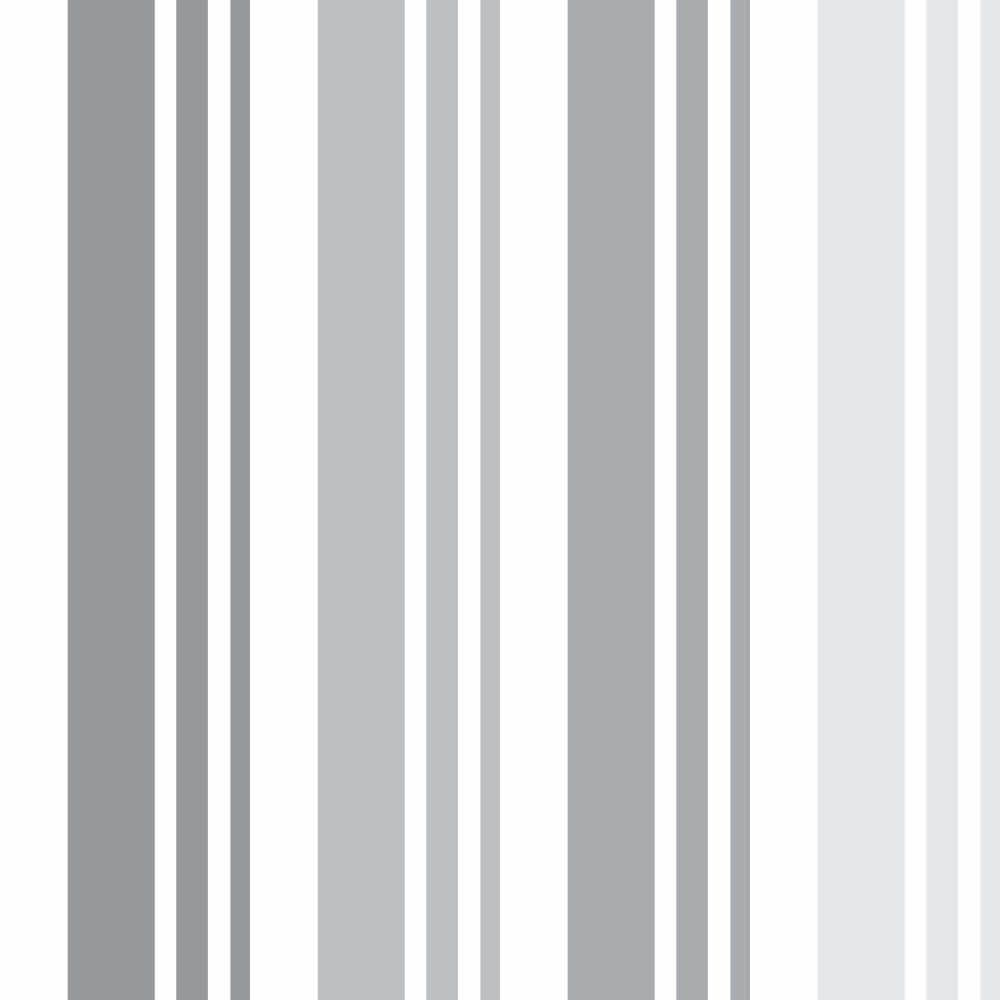 OUTLET - 1 Rolo de Papel de Parede Listras Gray 0,60 x 3,00 metros