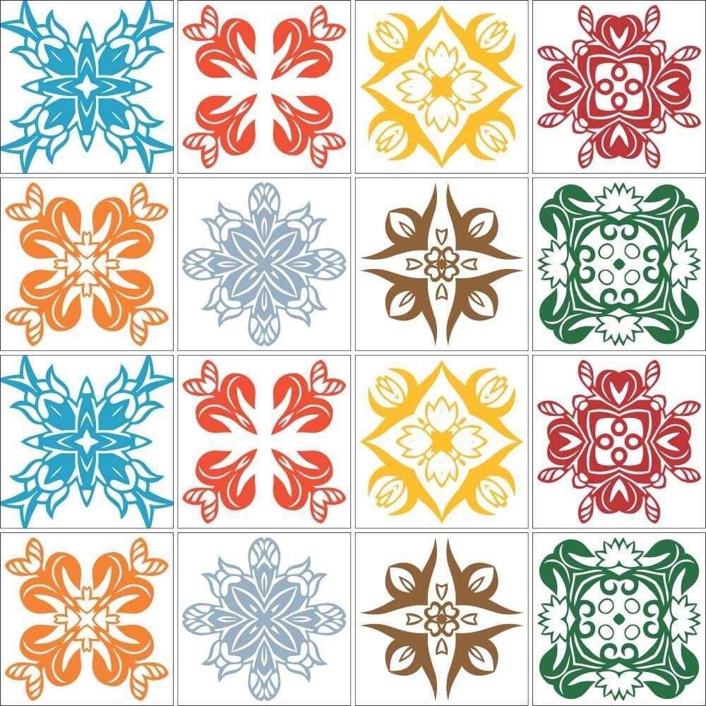 OUTLET - 2 Kits Adesivo para Azulejo Harmonia 20x20 cm