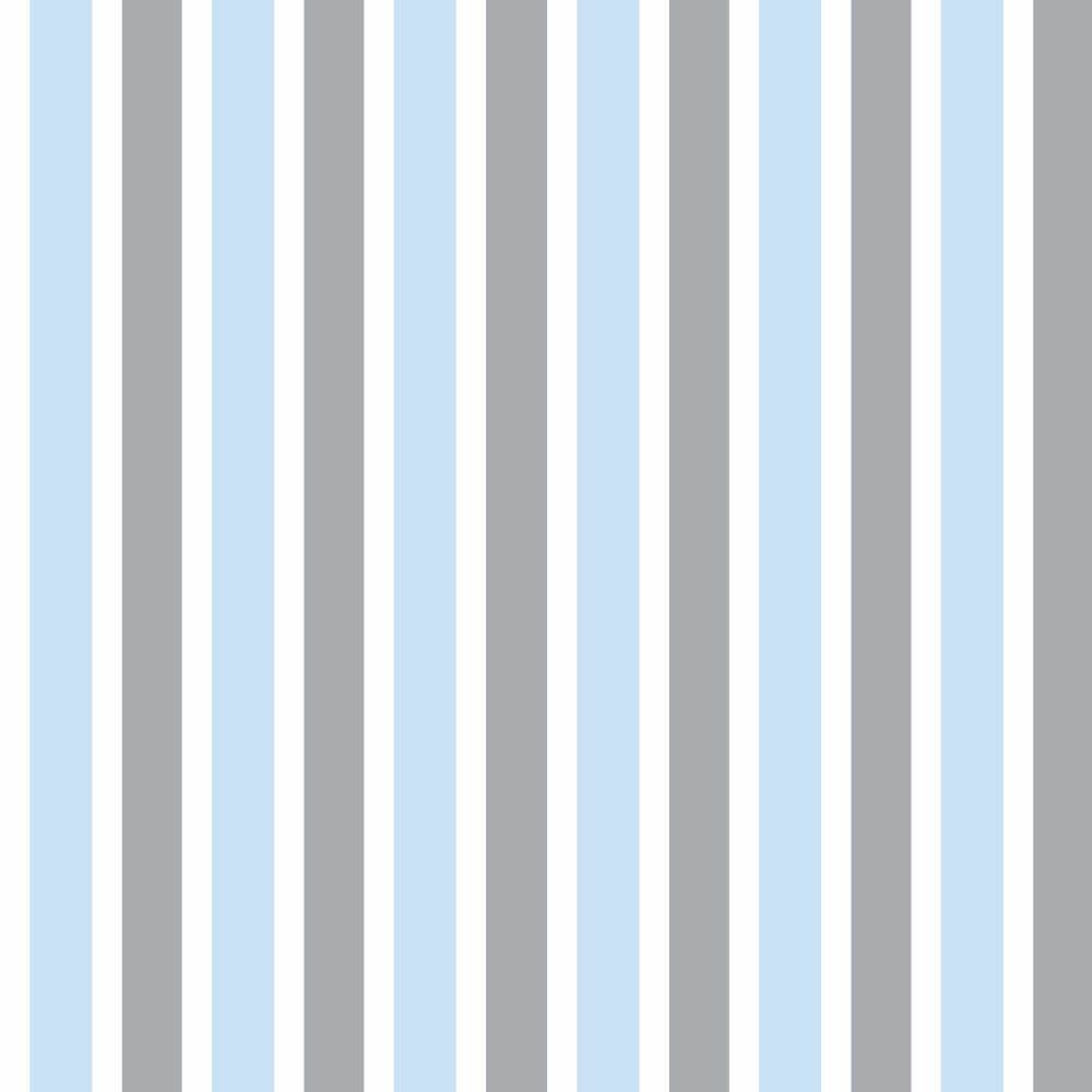 OUTLET - 2 Rolos de Papel de Parede Listras Boy Gray 0,60 x 3,00 metros