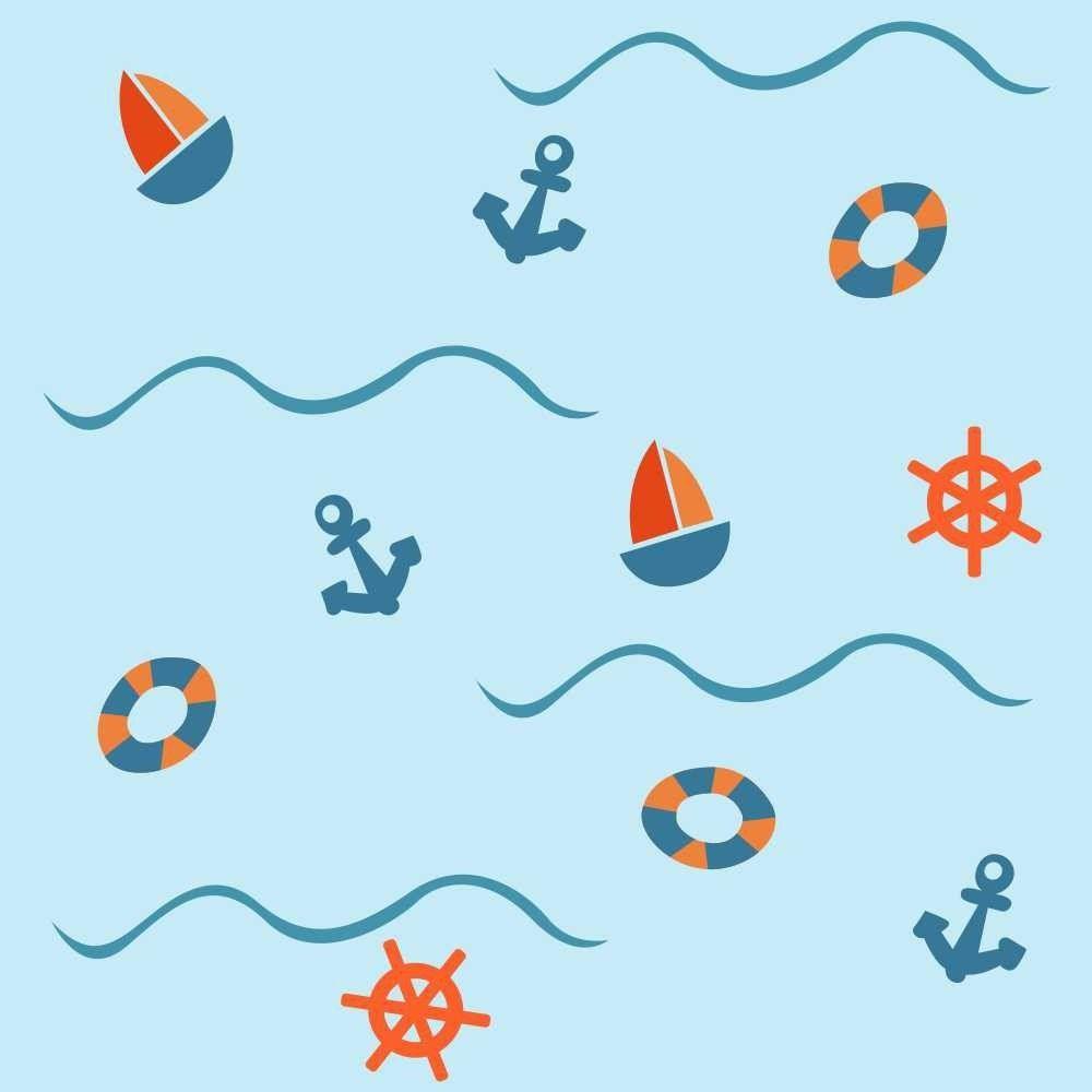 OUTLET - 2 Rolos de Papel de Parede Sailor Boy 0,60 x 2,50 metros