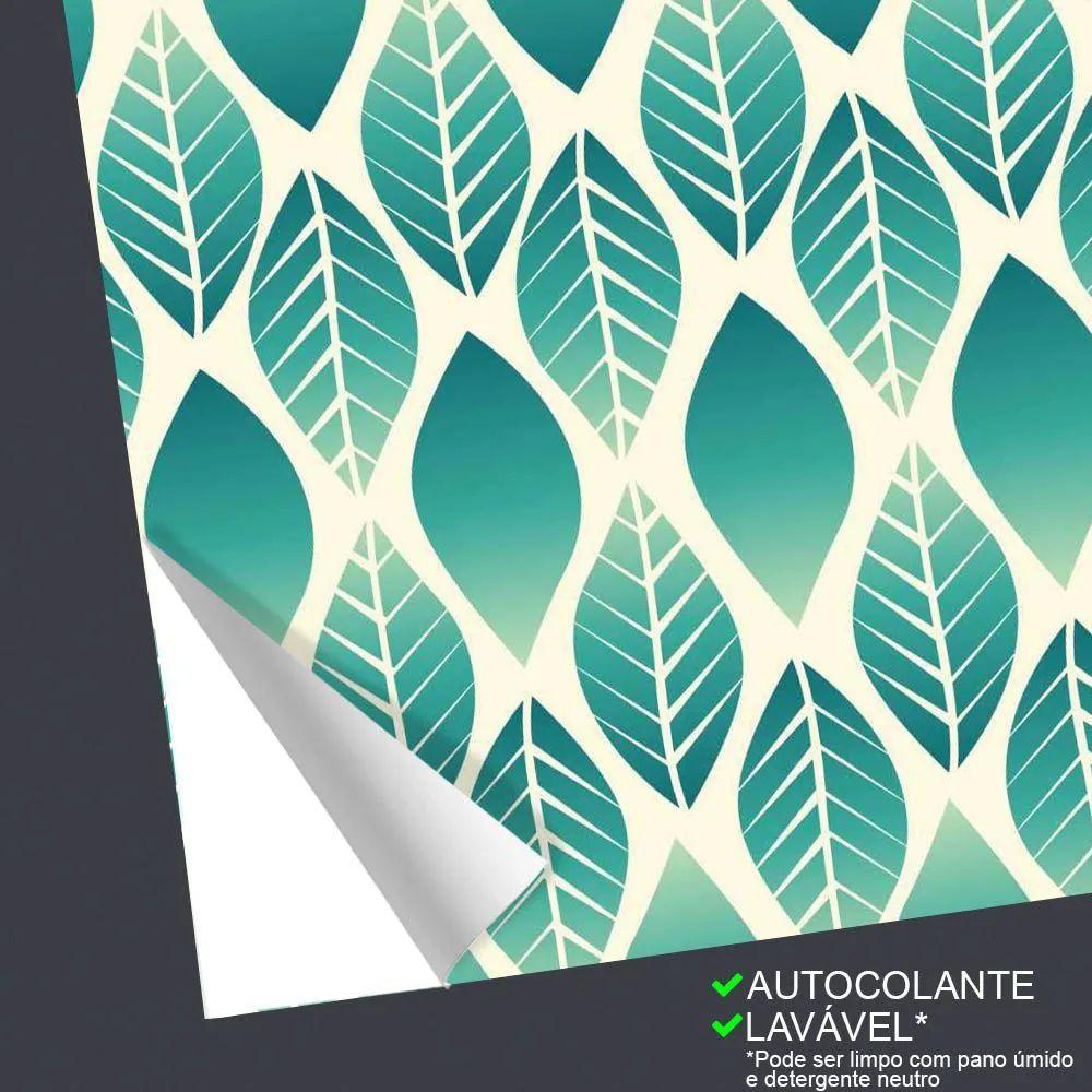 OUTLET -  2 Rolos Papel de Parede Degrade Folhas 0,58 x 2,50 metros