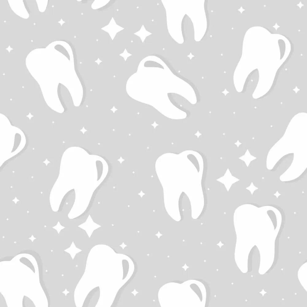 OUTLET -  2 Rolos Papel de Parede Dentes Gray 0,58 x 3,00 metros