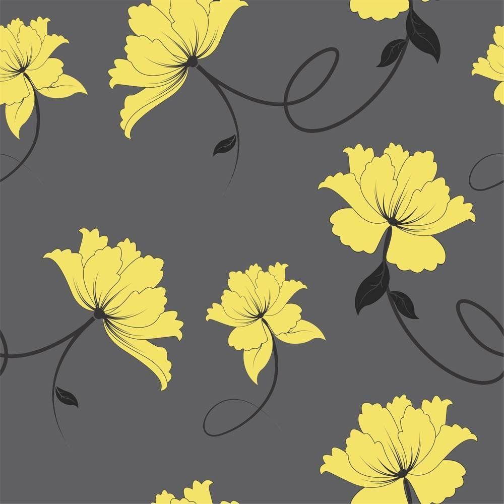 OUTLET - 3 Rolos de Papel de Parede Floral Bril 0,60 x 2,50 metros