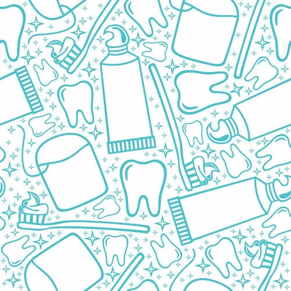 OUTLET -  3 Rolos Papel de Parede Dentista 0,58 x 3,00 metros
