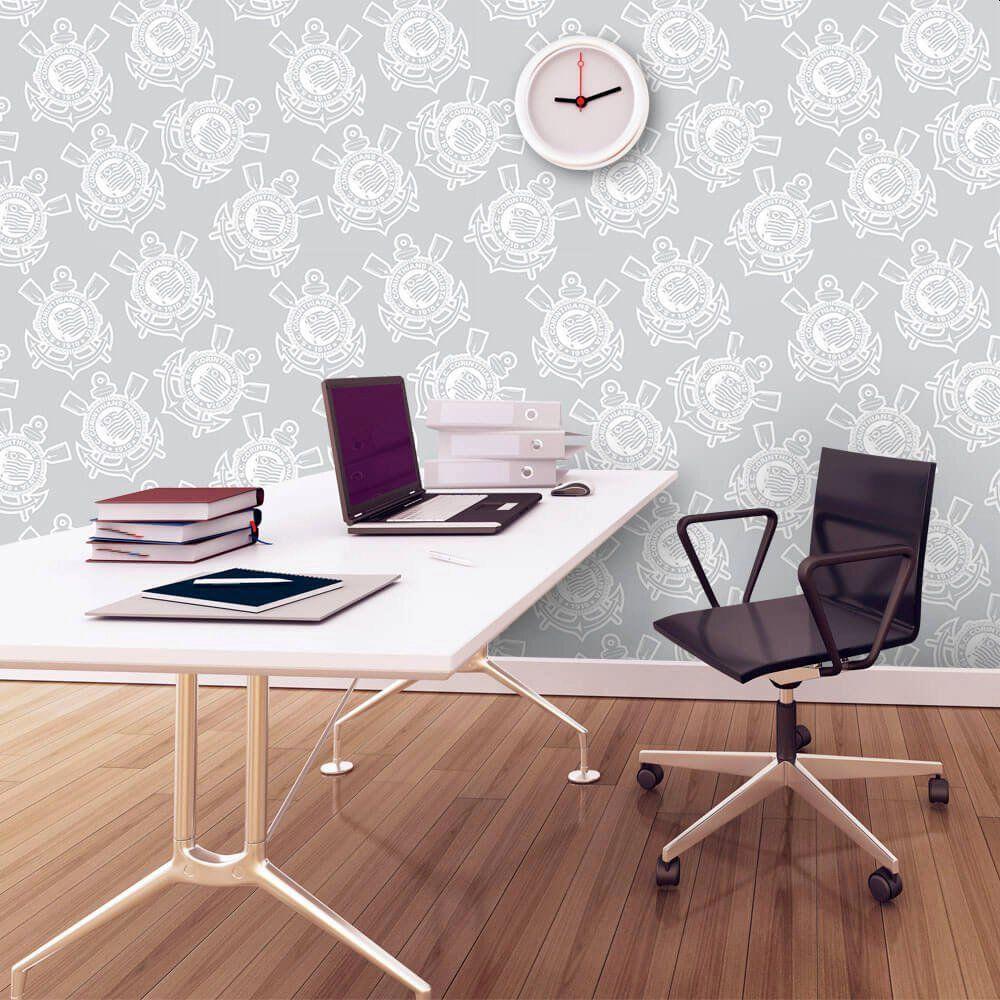 OUTLET - Papel de Parede Logo Gray 0,58 x 2,50 metros