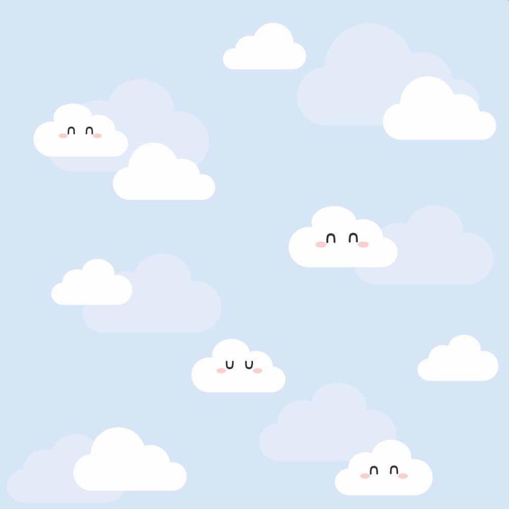 OUTLET - Papel de Parede Nuvens Clean Boy 0,58 x 1,50 metros