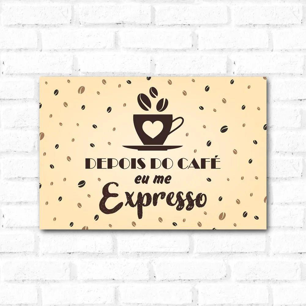 OUTLET - Placa Decorativa Depois do Café (20x30cm)