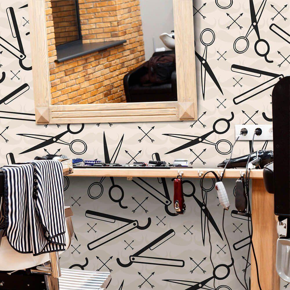 Papel de Parede Barber Shop