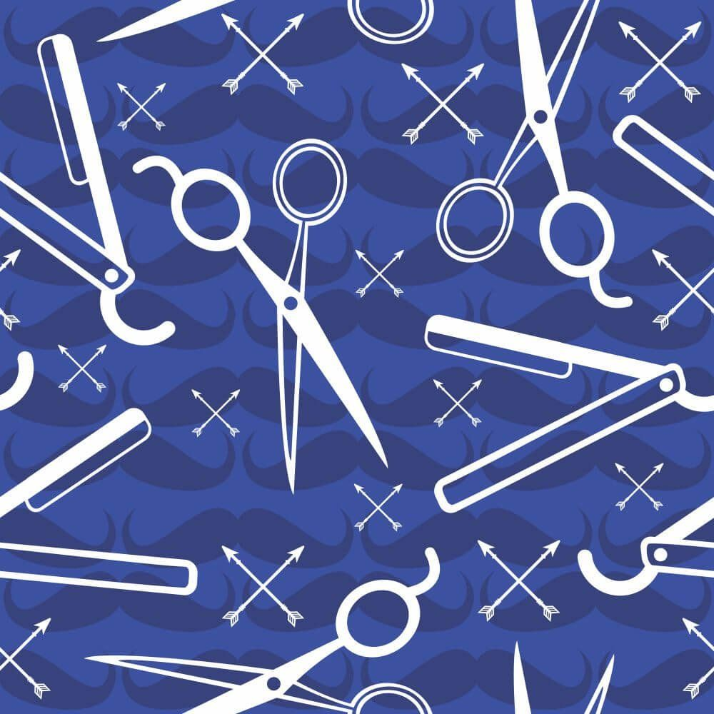 Papel de Parede Barber Shop Blue
