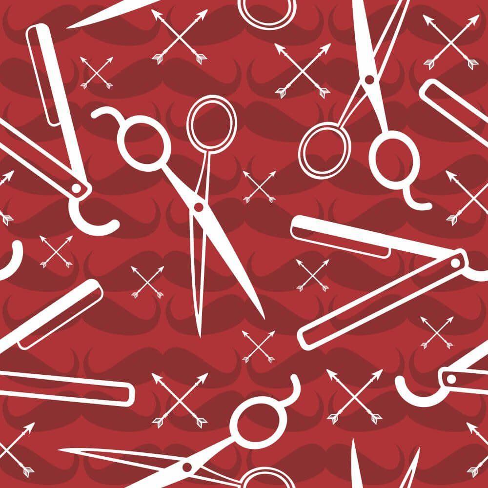 Papel de Parede Barber Shop Red