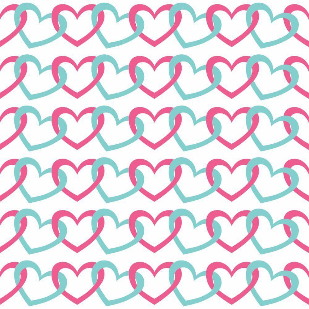 Papel de Parede Cadeado de Coração Color